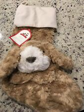 Pottery Barn Kids Faux Fur Puppy Labradoodle Christmas Holiday Santa Stocking