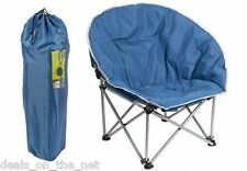 Summit Orca Moon Blue Grey Padded Chair & Carry Bag Camping, Fesitivals, Fishing