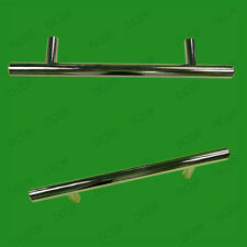 4x 96mm Chrome Effect T Handle Bar Door Drawer Handle Wardrobe Cupboard Cabinet