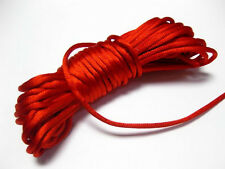 32.8 Feet Red Chinese Knot Cord Necklace Knot RATTAIL Thread Synthetic Silk