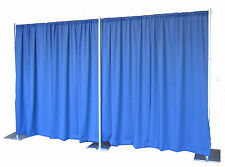 QUICK BACKDROP KIT 8 FT TALL x 20 FT WIDE PIPE AND DRAPE  (ROYAL PREMIER DRAPES)