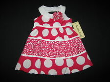 """NEW """"FUSHIA CIRCLES"""" Dress Girls Clothes 6-9m Spring Summer Boutique Baby Outfit"""