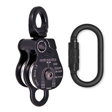 "Rock Exotica Omni-Block 1.5"" Double Pulley P51D-B Black w Oval Black Carabiner"