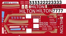 #3 BMW Hilton 1987 1/32nd Scale Slot Car Decals