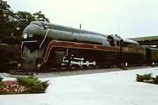 NORFOLK & WESTERN #611 J Class 4-8-4 Locomotive Train Railroad 35mm orig slide