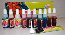 10x10ml Glass Paints & 1 Outliner tube Glass Painting Kit+1 FREE 15ml Outliner