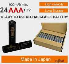 24-Pack Fujitsu HR-4UTHCEX AAA High Capacity NiMH Japan Pro Rechargeable Battery