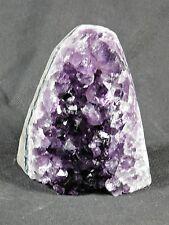 AMU17 Uruguayan Dark Purple Free Standing Amethyst Quartz Geode Crystal Gift