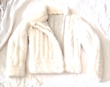 GUCCI COOL MINK MOTORCYCLE JACKET IVORY COLOR SZ 38 US 00-0 100% AUTHENTIC MINT