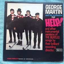 "George Martin ""HELP! Instrumental Beatles Hits"" LP UA 3448 White Label PROMO"