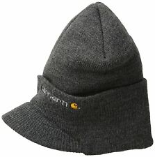Carhartt Mens Knit Hat With Visor Carhartt A164 Knit beanie with brim fold-up