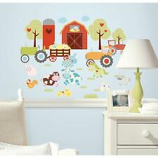 HAPPI BARNYARD wall stickers 42 decals pigs cows farm scrapbook animals tractor