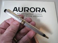 Aurora Optima sterling silver barley ballpoint pen MIB #988