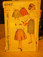 Simplicity 3767 Girl's Set of Skirts Pattern - Size 10 Waist 24