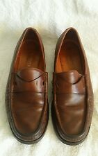 Vintage Gucci Italy Horse Bit Lug Sole Loafers Men's Brown Shoes Size 12 1/2