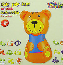NEW BOXED INFLATABLE ROLY POLY BEAR BABY TODDLER TOY FUN!