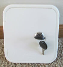 Universal Valterra White Gravity Water Hatch Fill Dish Lock Keys RV Trailer