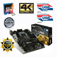 Bundle Intel Core i7 6700k 4x 4,20ghz+msi z170-a pro usb3.1 - acción especial