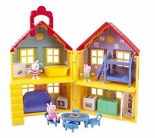 Peppa Pig Playhouse Deluxe Set Play House Figures Toddler Kids Toy 15 pcs NO TAX