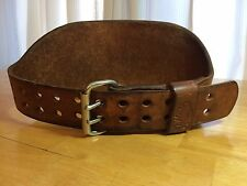 """Altus Leather 6"""" Wide Weightlifting Belt Sz S 24-28 Double Two Prong"""