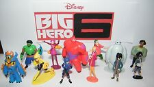 Disney Big Hero 6 Figure Set of 12 with Hiro, Baymax, Fred and Bonus