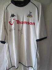 Tottenham 2003-04 Kanoute and Davies Signed Home Football Shirt with COA /13920