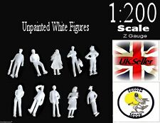 1:200 Scale Architecture Model White Figures / People - Unpainted  Pack 50