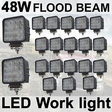 20X 48W Flood LED Off road Work Light Lamp 12V 24V car boat Truck Driving UTE