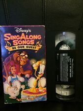 Pre-viewed Disney's Sing Along Songs - Beauty and the Beast/Be Our Guest VHS