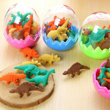 Funny Dinosaurs Egg Pencil Rubber Eraser Students Office Stationery Gift Toys