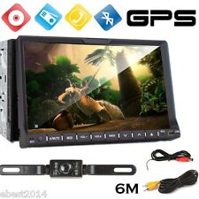 7 Inch Double 2DIN Windows Stereo Car CD DVD Player GPS Navi FM Touch Radio+Cam