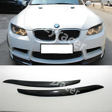 Carbon Fiber Front Headlight Cover Eyelid Eyebrow for BMW E92 E93 M3 06-13
