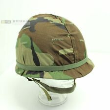 US M1 Combat Helmet with Liner & Camo Cover - Original (Not Repro)