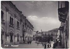 0257 RAGUSA SCICLI - MUNICIPIO Cartolina FOTOGRAFICA viaggiata 1952