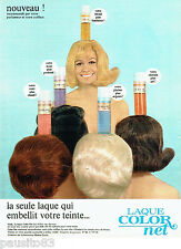 PUBLICITE ADVERTISING 1016  1967  la laque Hélène Curtis  color net