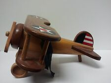 "VINTAGE WOODEN DESKTOP MODEL- WWI AIRPLANE 10""-FIGHTER PLANE made in PHILIPINES"