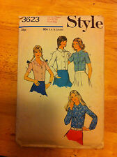 STYLE vintage sewing pattern kids age 9 TO 10 blouse (3623)