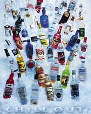 DRINKING POSTER Chill Out Vodkas