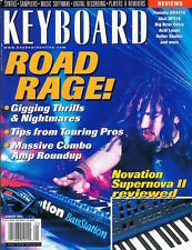 2001 KEYBOARD Reviews KORG Triton 20 Amps, Akai DPS16 Yamaha AW4416, ROAD RAGE