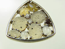 Designer Collier 925 Silber mit 10 bunten Zirkonia