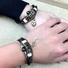 His & Hers Lock and Key Couples Lovers valentines Friendship Bracelet-Ships Fast