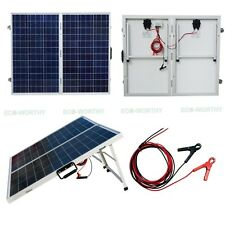 120W 2x60W Folding Solar Panel PV Kit for Caravan Boat RV Marine Home Yacht  Car