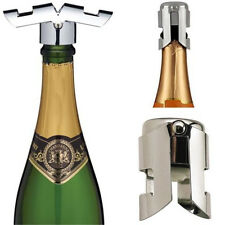2016 Stainless Steel Champagne Sparkling Wine Liquor Bottle Sealer Cork NEW