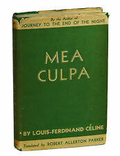 Mea Culpa and Life Semmelweis LOUIS-FERDINAND CELINE ~ First Edition 1937 1st US