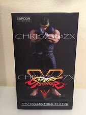 "Street Fighter V 5 Ryu Statue Figure BLUE GI/YELLOW Headband Variant 10"" Capcom"
