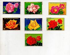 FLOWERS 7V DIFFERENT STAMPS COMPLETE SET OF 7 STAMPS ALL LARGE # 24