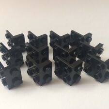 LEGO New Lot Of 12 Black Bracket 1x2 - 2x2 Angle Plate Inverted Bricks