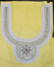Indian/Pakistani/Asian yoke Lace Embroidered Kameez Gala collar applique motif