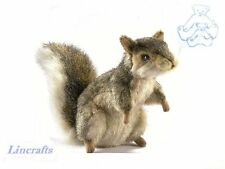 Sitting Grey Squirrel Plush Soft Toy by Hansa 5676