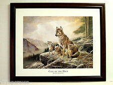 WOLF PICTURE WOLF CUBS   MOUNTAINS  CALL OF THE WILD  PUPS  FRAMED PRINT 16X20